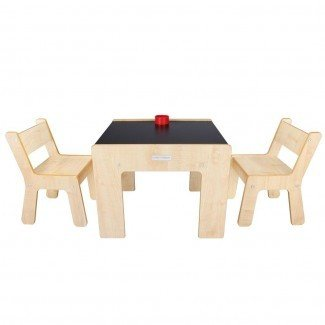 Little Helper FunStation Duo Juego de mesa y 2 sillas para niños pequeños