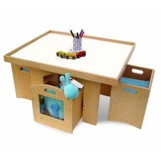 Mesa con almacenamiento y silla para un niño pequeño | DesignCorner