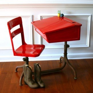 Juego de escritorio y silla para niños pequeños | Modelo de sillas