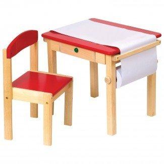 Juego de mesa y silla Kidkraft Farmhouse - Escritorio para niños pequeños y