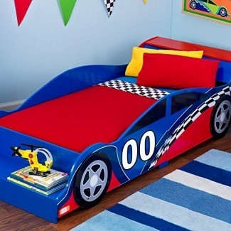 Cama para niños KidKraft Racecar - 76040