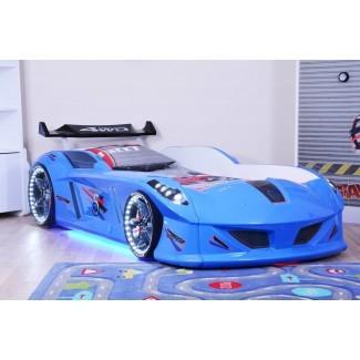 Cama para automóvil Thunder Race - Azul - Tienda de cama para automóvil