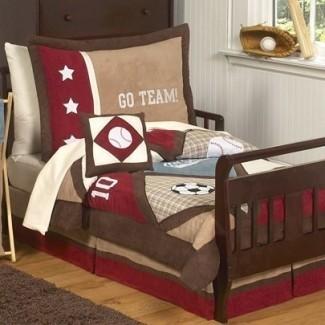 Juego de ropa de cama para niños pequeños All Star Sports de 5 piezas