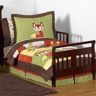 Forest Friends Juego de cama para niños pequeños de 5 piezas