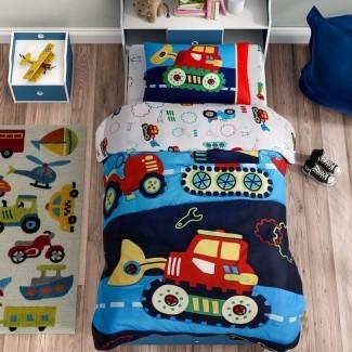 Juego de sábanas para niños pequeños Carpentier de 4 piezas