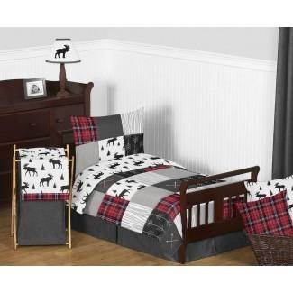 Juego de cama para niños pequeños Patch Patch rústico de 5 piezas