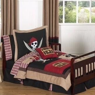 Juego de cama para niños pequeños de 5 piezas Pirate Treasure Cove