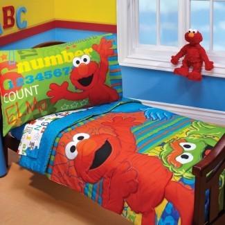 ABC 123 Juego de ropa de cama para niños pequeños de 4 piezas