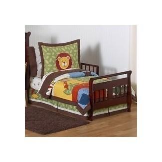 Jungle Time Juego de cama para niños pequeños de 5 piezas