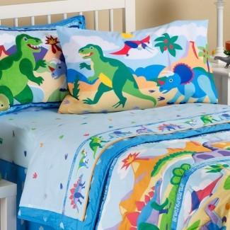 Juego de sábanas de dinosaurio para niños pequeños Niños de guardería Niños niñas ...