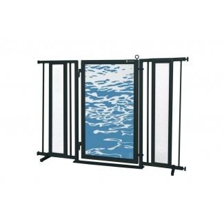 Puerta de seguridad para aguas curativas