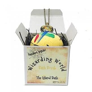 Caja de regalo de la bomba de baño Wizard World con colgante de Wizard World - Hecho en EE. UU.