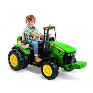Tractor de doble fuerza Peg Perego John Deere