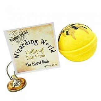 Caja de regalo de bomba de baño de la Casa amarilla Wizard World con colgante a juego - Hecho en EE. UU.