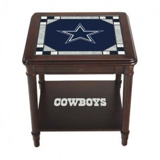 Dallas Cowboys Stained Glass End Table | La menta de Danbury