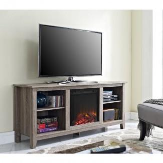 """Sunbury Soporte de TV para televisores de hasta 60 """"con chimenea"""