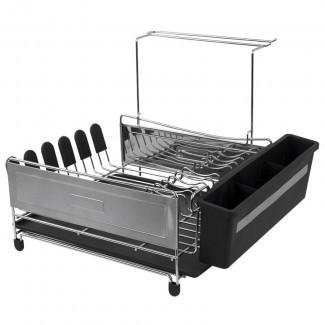 Estante para platos de acero inoxidable de lujo