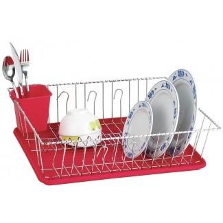 Estante grande para platos con alambre retorcido