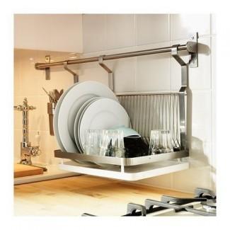 Ikea Grundtal escurridor de platos, acero inoxidable, plata