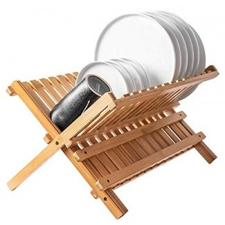 Bambú plegable Bellemain Estante de secado de platos