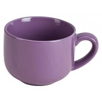 Taza o tazón de sopa de café con leche extra grande de 24 onzas con asa - Violeta púrpura