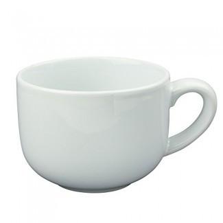 24 onzas de taza de café con leche extra grande o tazón de sopa con mango - blanco