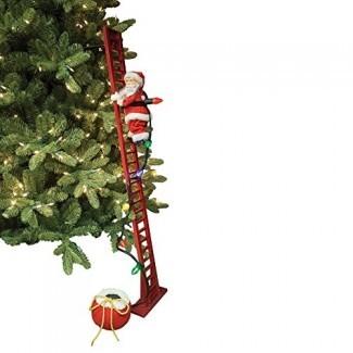 Mr. Christmas Super Climbing Santa Holiday Decor Red