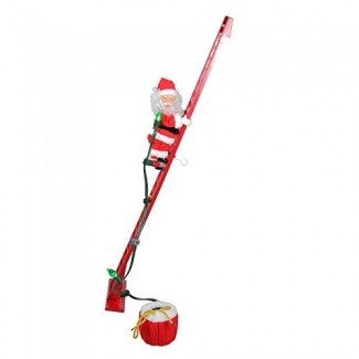 Mr. Navidad Animated and Musical Climbing Santa con Light Strand