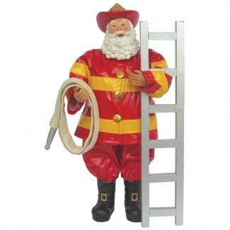 Fireman Santa Figurine