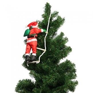 Katoot @ Climbing Santa Claus con adornos de escalera de cuerda Colgante Decoraciones para árboles de Navidad Adornos para fiestas en el hogar Suministros Regalos de Año Nuevo