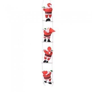 FEOYA Santa Claus Ladder Home Hanging Ornament Amuebla y decora la decoración de la mesa Regalo de cumpleaños