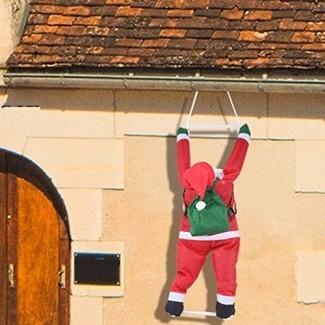 Joiedomi 35 Inch Climbing Hanging Santa Claus para decoración navideña