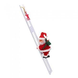 B Blesiya Santa Claus Escalera de escalada Árbol de Navidad Hogar de la fiesta interior Decoración de la pared