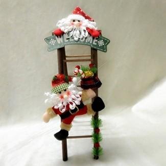 Katoot @ Large Santa Claus Snowman Subiendo escalera O adornos Regalo de vacaciones Colgante de árbol de juguete para niños Decoración navideña para el favor de la fiesta en casa