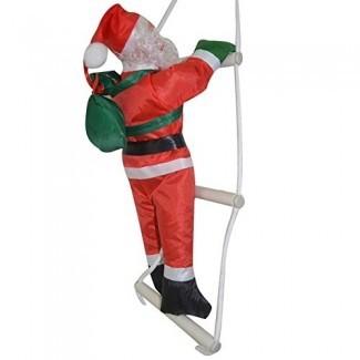 Fullfun Sweet Christmas Tree Ornament Decoración Escalera Papá Noel Subir escaleras dando regalos colgantes