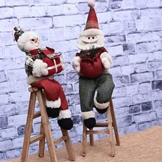 Decoraciones navideñas de la novena ciudad Decoración del ornamento de la escalera de escalada de Papá Noel