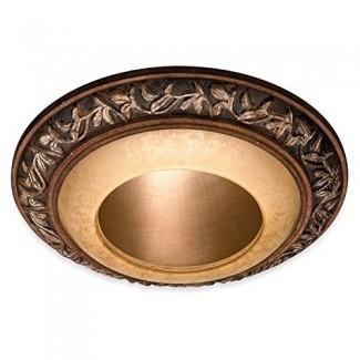 """Cubierta de luz empotrada decorativa - Pátina de Florencia - 6 """"de diámetro, borde exterior: 8"""" de diámetro"""