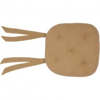 Cojín de silla de comedor interior de arpillera