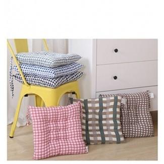 Almohadillas para silla de interior DADA para comedor de Kicthen Pulgadas Asiento cuadrado con cojín Cojines Cojines con corbatas Cojín de silla