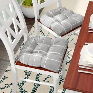 Cojín de silla de comedor de tela (juego de 2)