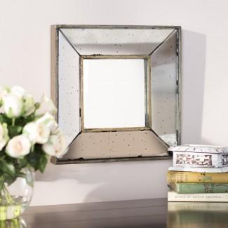 Espejo de pared de vidrio cuadrado tradicional