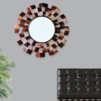 Ahmad Art Deco inspirado espejo de acento
