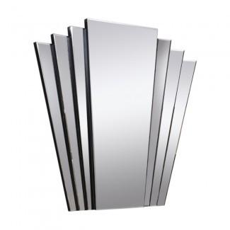 Espejo Art Deco: espejo de pared con cola de ventilador Gatsby