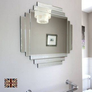 Reino Unido hizo espejo de cristal art deco de espejos decorativos en línea