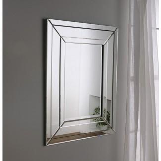 ART480 | Espejos de fabricación británica, Art Deco | Vidrio anhelado