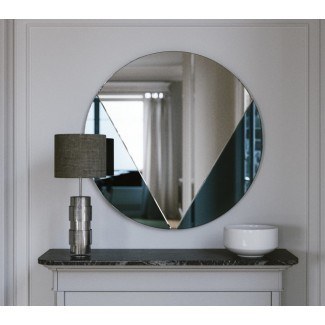 Espejo azul Art Deco: nuestra pared de estilo clásico de cola de milano