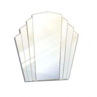 Espejos y vidrio - Espejos: forma de abanico Art Deco pequeño