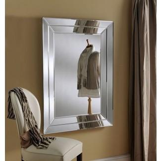 Espejo art déco en ángulo, con efecto de bandeja y marco con un llamativo ...