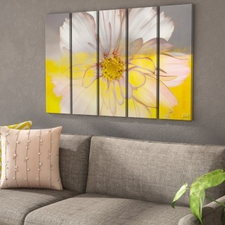 Impresión de arte gráfico 'Painted Petals XXXIV' de varias piezas sobre lienzo (juego de 5)