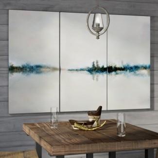 Imagen de varias piezas 'Calm Morning' en lienzo envuelto